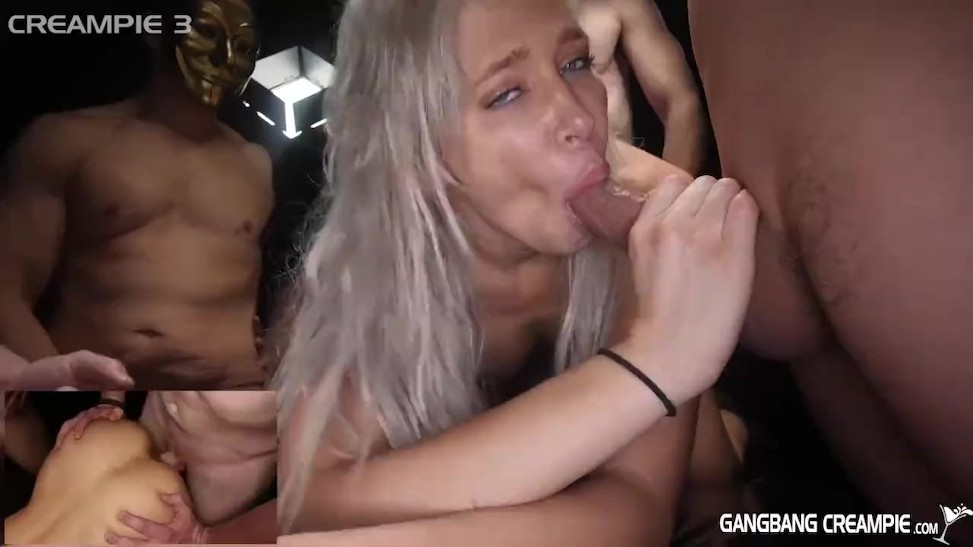 2 Girl Gangbang Creampie