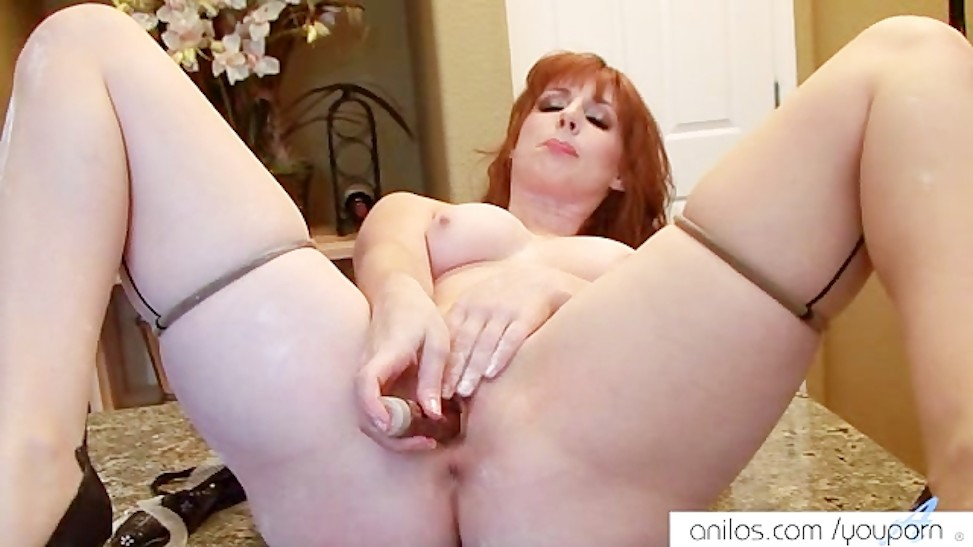 Red Head Big Tits Riding